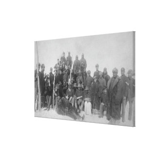 """Black """"Buffalo Soldiers"""" of the 25th Infantry Stretched Canvas Print"""