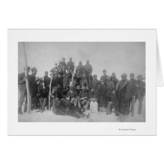 """Black """"Buffalo Soldiers"""" of the 25th Infantry Greeting Card"""
