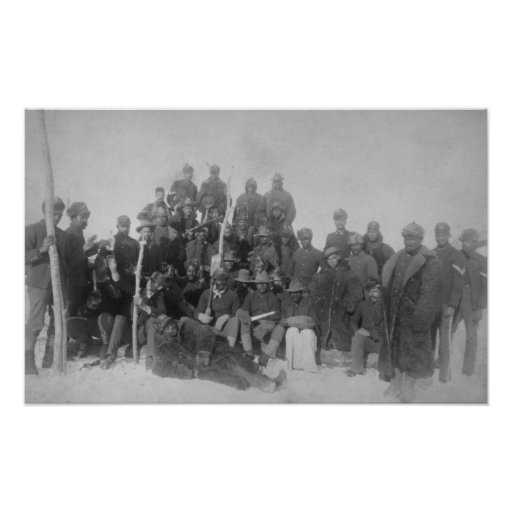 """Black """"Buffalo Soldiers"""" of the 25th Infantry Posters"""