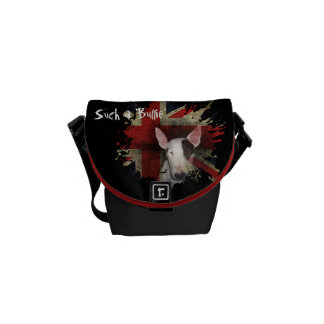 Black Bull Terrier Union Jack Mini Bag Commuter Bags