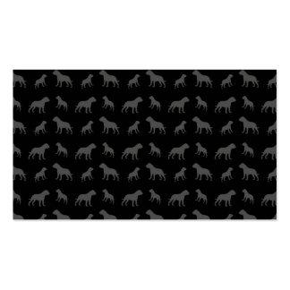 Black bulldog pattern pack of standard business cards