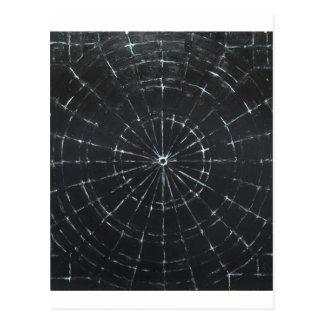 Black Bull's Eye (black minimalism) Postcard