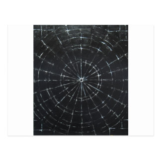 Black Bull's Eye (black minimalism) Post Cards