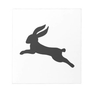 Black bunny rabbit notepad