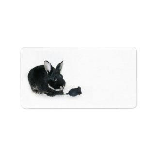 Black Bunny rose Label