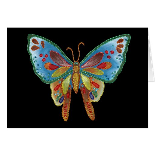 Black Butterfly Birthday Card