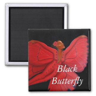 Black Butterfly Fridge Magnet