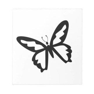 Black Butterfly Notepads