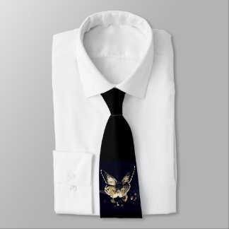 Black butterfly tie