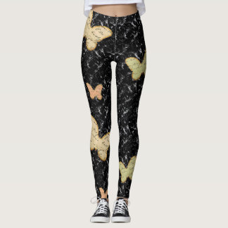 Black Butterfly Trendy Leggings