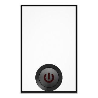 Black Button - On Symbol Stationery
