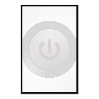 Black Button - On Symbol Stationery Paper