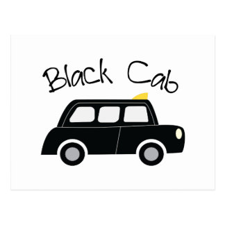 Black Cab Postcard