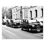 Black Cabs London Art Photo