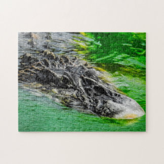 Black caiman 02 Digital Art - Photo Puzzle