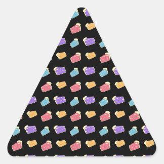 Black cake pattern triangle sticker