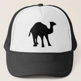 black camel trucker hat