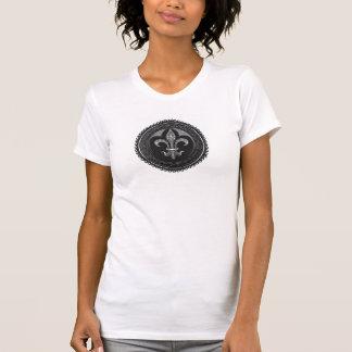 Black Cameo Fleur de lis T Shirt