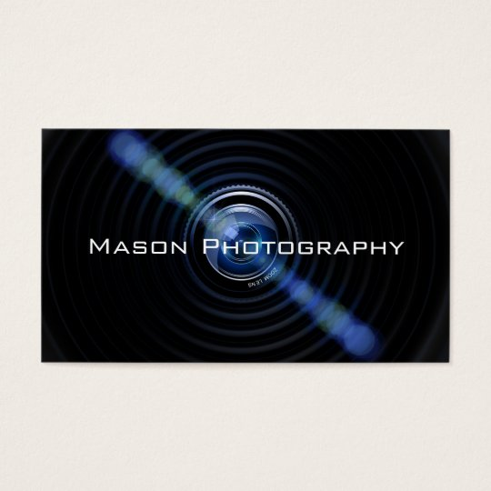 Black Camera Lens Photographer Business Card