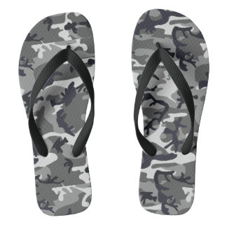 Black Camo Flip Flops