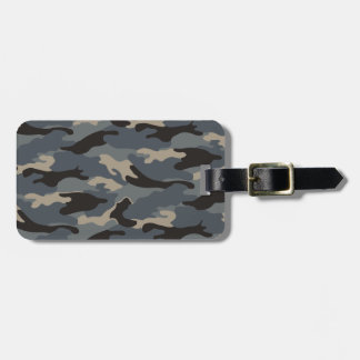 BLACK CAMO LUGGAGE TAG