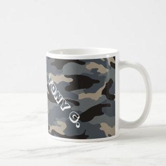black camo classic white coffee mug