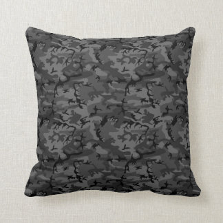 Black Camo Pattern Cushion