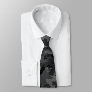 Black Camo Pattern Tie