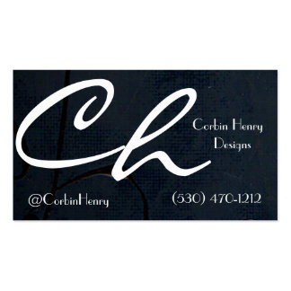 Black Canvas Business Cards