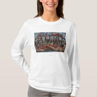 Black Canyon, Colorado - Large Letter Scenes T-Shirt