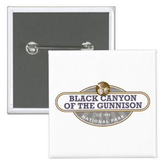 Black Canyon Gunnison National Park 15 Cm Square Badge