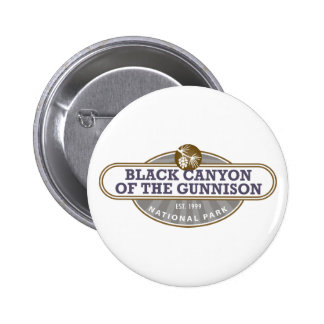 Black Canyon Gunnison National Park 6 Cm Round Badge