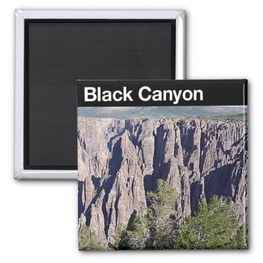 Black Canyon of the Gunnison NP Square Magnet