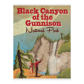 Black Canyon of the Gunnison Travel Poster