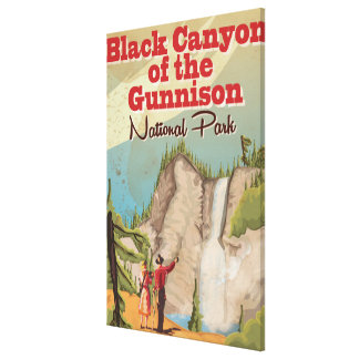 Black Canyon of the Gunnison Vintage Travel Poster Canvas Print