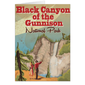 Black Canyon of the Gunnison Vintage Travel Poster Greeting Card
