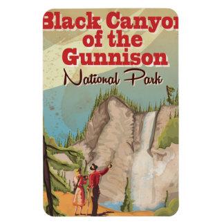 Black Canyon of the Gunnison Vintage Travel Poster Rectangular Photo Magnet