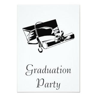 Black Cap & Diploma Personalized Invitation