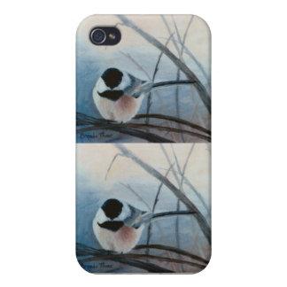 Black Capped Chickadee IPhone 4 Case