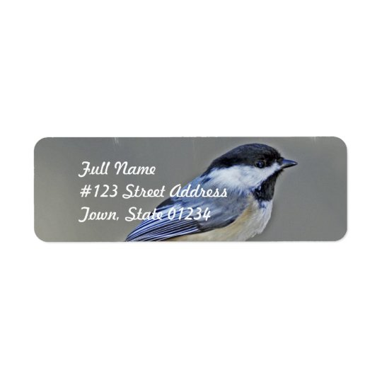 Black Capped Chickadee Mailing Labels