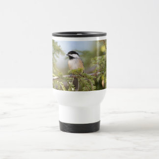 Black Capped Chickadee Travel Mug