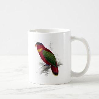 Black-Capped Lory by Edward Lear Coffee Mugs