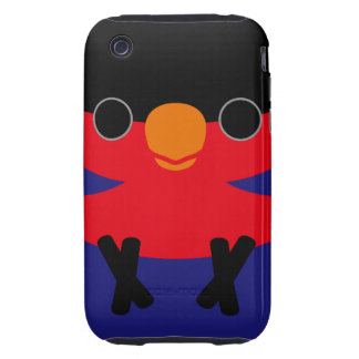 Black-capped Lory Tough iPhone 3 Cover