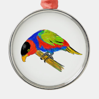 Black-capped Lory Christmas Ornament
