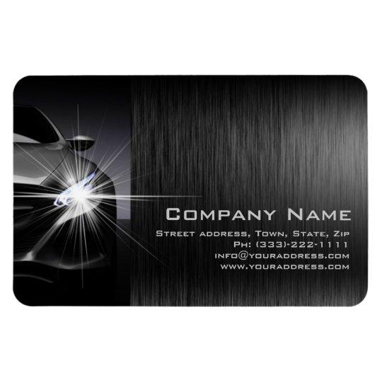 Black Car Automotive Company Metal Magnet