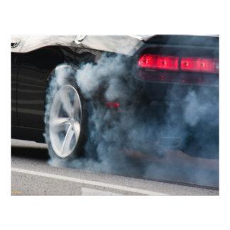 Black car burnout 21.5 cm x 28 cm flyer