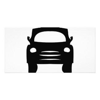 black car icon photo card template