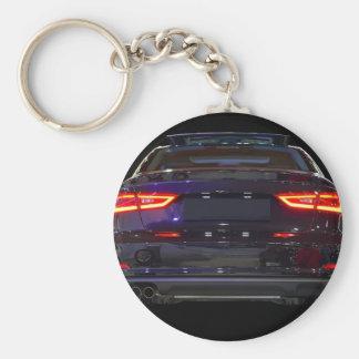 black car, red lights key chains