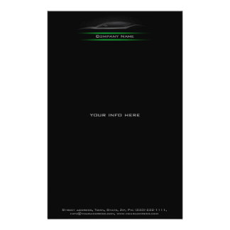 Black Car Silhouette Lighted Green Line Flyer