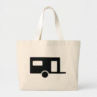 black caravan icon canvas bags